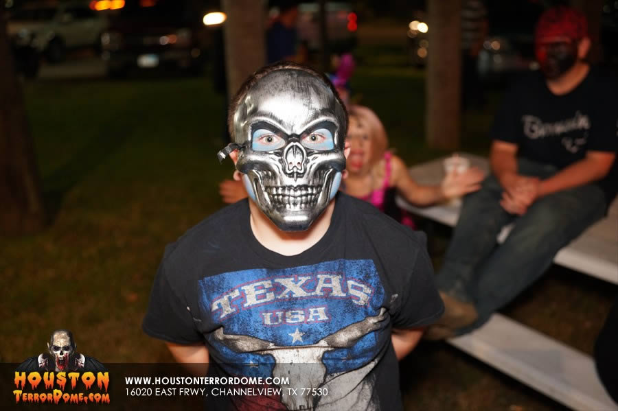 Kid in Skeleton Mask
