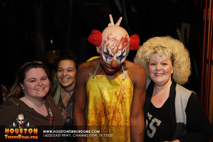 Evil clown with our supporters.