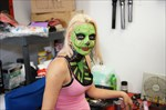 female Zombie with face paint
