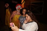 Selfies with the evil clown.
